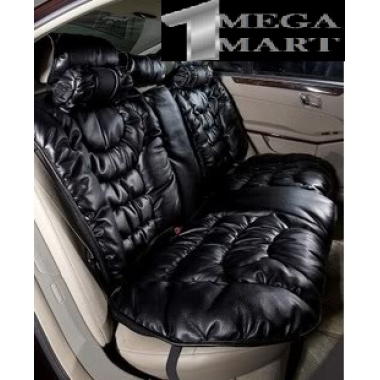 GD 1056 Crown Bling Logo Bubbled Style Seat Cover